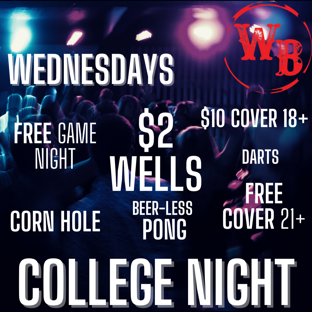 College Night on Wednesdays at the Whiskey Baron Dance Hall & Saloon in Colorado Springs