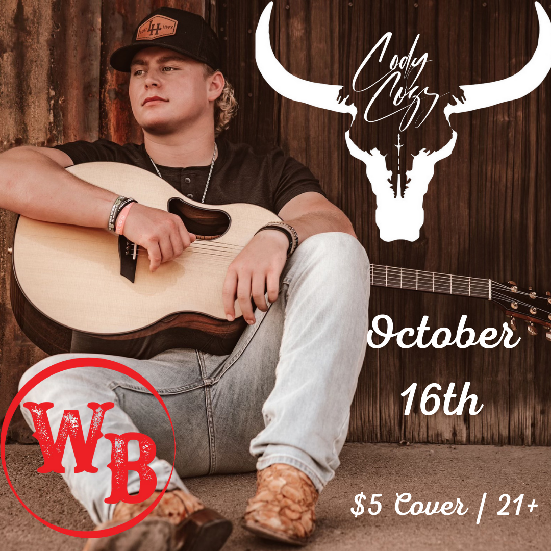 Cody Coz Concert Event at the Whiskey Baron Dance Hall & Saloon on October 16th, 2021 in Colorado Springs